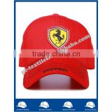 cheap advertising promotional china manufacturer red cotton twill custom logo baseball cap