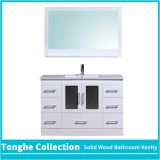 White Gloss Bathroom Vanity Unit Ceramic Basin Sink