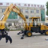 material handlding grab crane municipal solid waste grapple