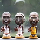 head shaking basketball star plastic bobblehead figure, doll bobbleheads, sports figure bobblehead