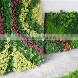 Home and outdoor decoration synthetic cheap 1m x 1m artificial vertical green grass wall E08 04C40