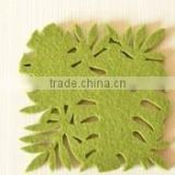 high quality new fashion eco custom laser cut polyester felt tea coaster bar mat custom design manufacturer