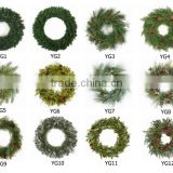 factory direct sale!!! USA and EU and Canada fashionable and classic Christmas wreath with good quality and competitive