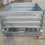 Industrial Collapsible Steel Pallet Box Corrugated 0.3 - 1L