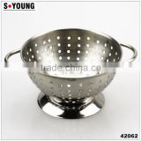42062 STAINLESS STEEL FRUIT BOWL COLANDOR