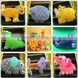 High quality short plush heteromorphism animal shape cushion with pp cotton filling