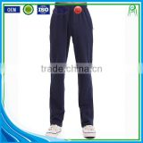 Navy Blue White Custom Plain Breathable Cotton Sports Pants Wholesale