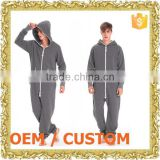 Customized zipper up jumper suit men hooded romper one piece dress ladies formal one-piece dresses