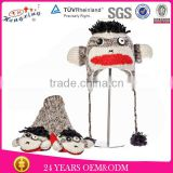 Punk Rock Sock Monkey Knit Children Animal Hats