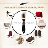 NEW high quality Multifunctional Scrub Fur Shoes Cleaning Brush Portable Size Snow Boots Suede Shoe Cleaner Cleaning Brush