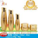 Guangzhou pakcage factory supply glass cosmetic packaging suit bottle,water,lotion,cream bottle