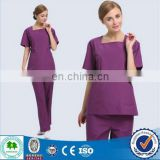 2015 new style nurse scrub suit design / scrub top / scrub overalls in hospital