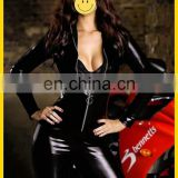 XL XXL Plus Size Black catsuit Sexy Racing Club Wear latex Catsuits Costumes Lingerie For Women