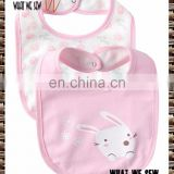 Full cotton double-sided available baby bib soft and comfortable bib
