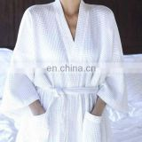 top sale Waffle Cotton Polyester Satin Bath Robe