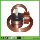 copper coated steel welding wire for ER70S-6 type by diameter 0.80mm, 1.00mm, 1.20mm and 1.60mm packed in 15kg per spool