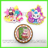 Custom soft pvc cartoon animal flower food fridge magnet for home