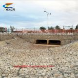 Wire Cages For Rock Retaining Walls , Hexagonal Rock Gabion Baskets Rust - Resistant