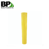 yellow powder coated with stock steel bollards