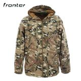 Chinese Clothing Manufacturers Khaki Soft Shell Jacket For Outdoor Jacket