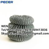 Kitchen cleaning dish scourer/galvanized mesh scourer