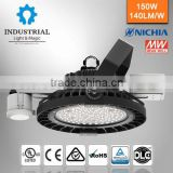 IP66 Nichia warehouse zigbee wireless app control 150w ul dlc high bay led industrial light