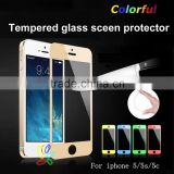 Factory price color tempered glass screen protector for iphone 5 5s cell phone accessories