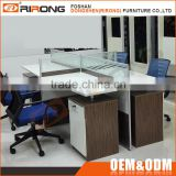 Modern design office furniture 4 person office cubicle computer workstation with partition