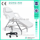 beauty salon equipment massage stainless steel unfolding facial bed with pillow and handrest