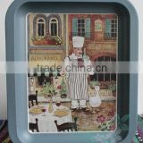 Decorative plate Dessert plate Tin plate wrought iron snack plate wall act the role of rural idyll compote of Scotland