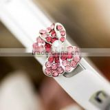bling bling 3.5mm Dimond Bow dust stopper Earphone Jack plug for iphone/ipad/samsung/LG/HTC/phone/tablet PC