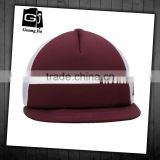 Hot selling customized mesh hat sponge fabric short brim 5 panel trucker cap plain