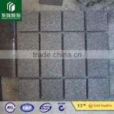 Natural Split Black Basalt G684 Cobblestone With mesh