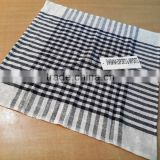 Black & White dobby linen cloth for tea towel cotton hotel towel linen dish towel stripes bar cloth wholesale