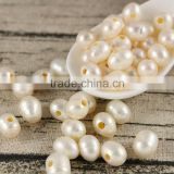 drill a big hole 2.0mm natural fresh water pearl for leather,big hole beads,large hole pearl beads                                                                         Quality Choice
