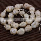 FWP005 big hole 2.0mm stone beads for leather,wholesale large irregular baroque freshwater pearls