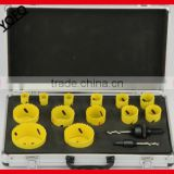 YF 11PCS Bi-metal hole saw16PC HSS Bi-metal Hole Saw Kit, Maintenance Kit Aluniminum Case cutter, M42 hole saws
