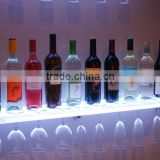 LED Backlit Acrylic Bar Shelf with Integrated Acrylic Wine Glass Stemware Rack
