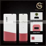 Light weight many colors 2600mah mobile rohs bluetooth cell phone power bank channel with led light