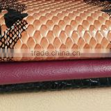 snakeskin grain pu leather for bag shoes decorative classical design soft surface printing pattern faux pvc pu leather