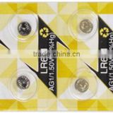 Factory price Eunicell Alkaline AG3 LR41 1.5V button cell battery 10x Blister card package