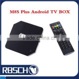 M8S Plus Android 5.1 Internet TV BOX Amlogic S905 Quad core Smart Full HD Media Player digital receivers