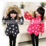 2015 Baby girl winter clothes velvet boutique child clothes for down jacket kids wholesale spot winter coat children(ulik-J022)