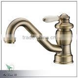2014 new fashion classic design single handle brass antique bronze kitchen faucet 1420YB