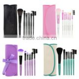 Professional Wooden Portable Make-up Kit 7pcs Set tools Makeup Cosmetic Brush