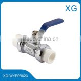 Cheap price brass ball valve/Barss valve with PPR union/Double ppr ball valve/flow control valve/angel valve/iron handle valve