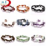 Mix color fahion stretch chip gemstone beads bracelets