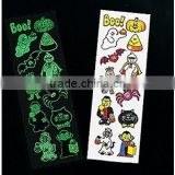 2015 Hot sale body eco friendly kids cartoon Tattoo glow in the dark Finger Tattoo star nail sticker