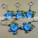 Water drop shape soft pvc keychain/custom keyrings