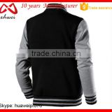 NAVY BLUE BLANK PLAIN MEN BASEBALL JACKETS HOODIE